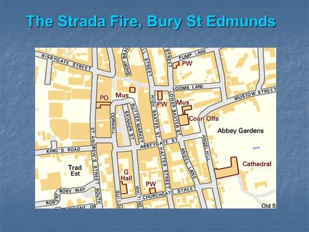 The Strada Fire, Bury St Edmunds. The impact… Damage to the rear of the building from the fire, falling masonry and by the fire-fighters themselves.