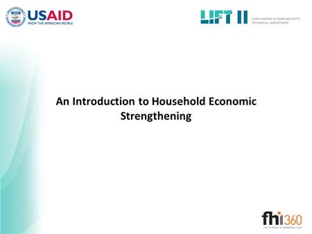 An Introduction to Household Economic Strengthening.