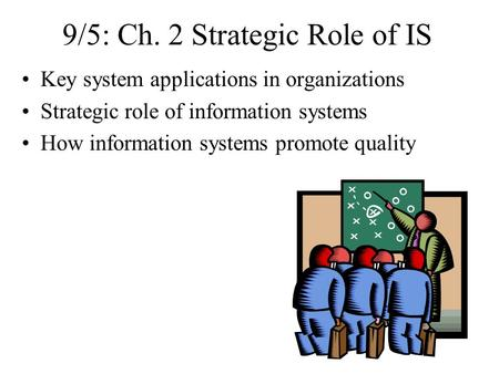 strategic role of information systems essay