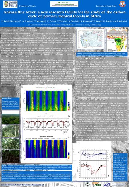 Ankasa flux tower: a new research facility for the study of the carbon cycle of primary tropical forests in Africa L. Belelli Marchesini 1, A. Forgione.