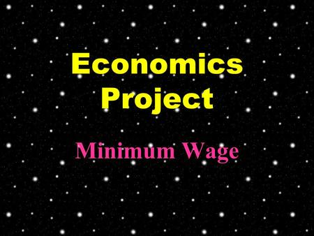 Economics Project Minimum Wage. Since 1997, the economy downturn in Hong Kong leads to the rapid increase of unemployment rate. Especially the low income.