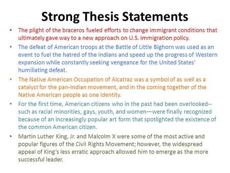 What Is A Strong Thesis Statement