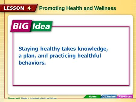 Staying healthy takes knowledge, a plan, and practicing healthful behaviors.