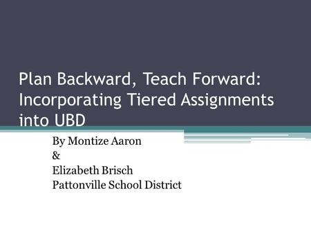 By Montize Aaron & Elizabeth Brisch Pattonville School District