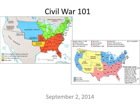 Civil War 101 September 2, 2014. U.S. Constitution??? Supreme Law of the Land State Governments – Deals with laws within a state Federal Government –