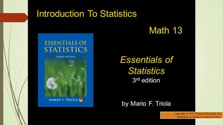 Essentials of Statistics 3rd edition