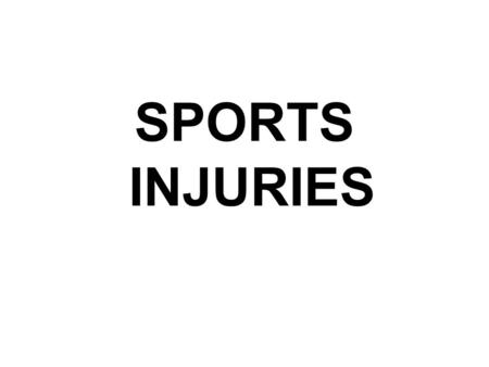 SPORTS INJURIES. Injury – Bruising/Contusion A bruise is an area of bleeding beneath the skin. The size of the bruise is proportional to the amount of.