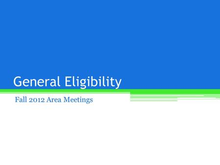 General Eligibility Fall 2012 Area Meetings. Medical Services Survey Supported by the MSHSL Sports Medicine Advisory Committee (SMAC) Data to see what.