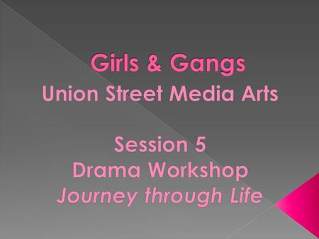  To develop a key understanding of the key issue and concerns facing young girls and young women affected by and involved in gangs and gangs violence.