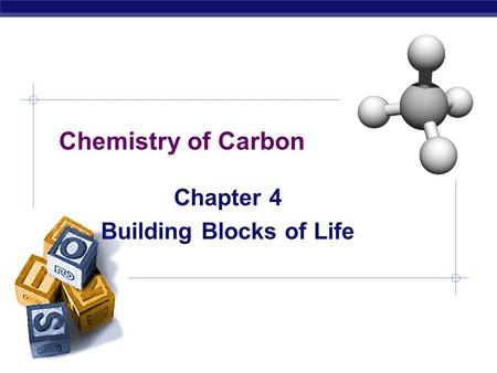 AP Biology Chemistry of Carbon Chapter 4 Building Blocks of Life.