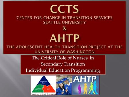 The Critical Role of Nurses in Secondary Transition Individual Education Programming.