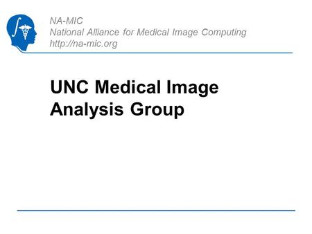 NA-MIC National Alliance for Medical Image Computing  UNC Medical Image Analysis Group.