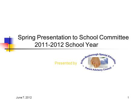 June 7, 20121 Spring Presentation to School Committee 2011-2012 School Year Presented by.