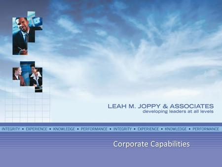 Corporate Capabilities. Who We Are Leah M. Joppy Associates (LMJA) is an SBA 8a/SDB certified, Woman-owned firm located in Derwood, MD. We are on the.
