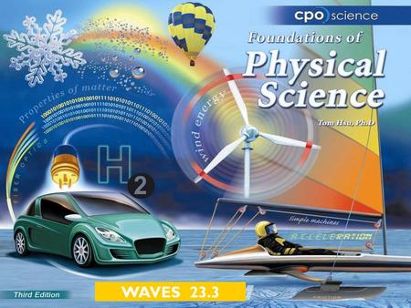 WAVES 23.3. Chapter Twenty-Three: Waves  23.1 Harmonic Motion  23.2 Properties of Waves  23.3 Wave Motion.