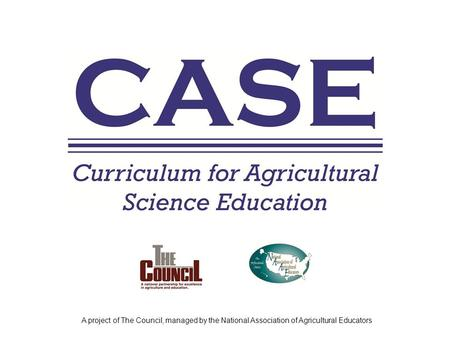 A project of The Council, managed by the National Association of Agricultural Educators.
