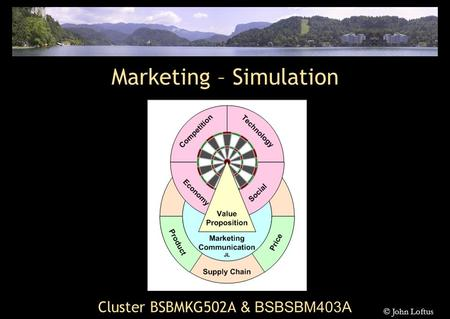 Cluster BSBMKG502A & BSBSBM403A Marketing – Simulation © John Loftus.