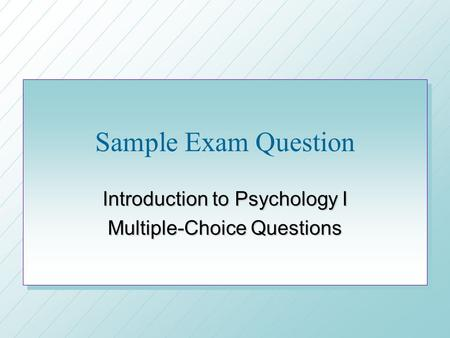 ap psychology personality essay question Try our 12 free ap psychology practice tests these quizzes include 200 multiple choice questions, organized by topic great for your ap psych exam review.