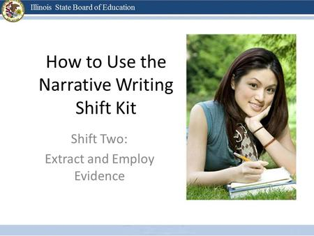 How to Use the Narrative Writing Shift Kit Shift Two: Extract and Employ Evidence.