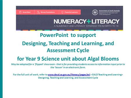 Designing, Teaching and Learning, and Assessment Cycle