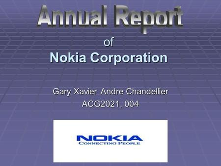 Of Nokia Corporation Gary Xavier Andre Chandellier ACG2021, 004.
