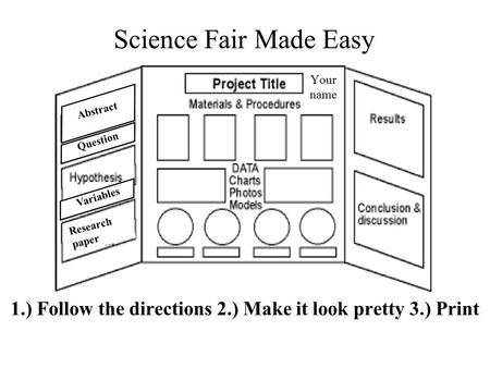 science fair research paper on candles Ideas for future research some science fairs want you to discuss what for a good science fair project background research (your research paper.