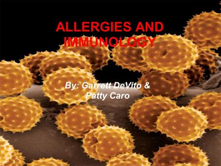 ALLERGIES AND IMMUNOLOGY
