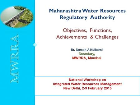 Maharashtra Water Resources Integrated Water Resources Management