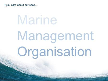 Click to edit Master title style Click to edit Master subtitle style 9/18/20151 Marine Management Organisation If you care about our seas… Marine Management.