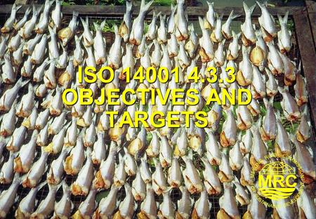 ISO OBJECTIVES AND TARGETS