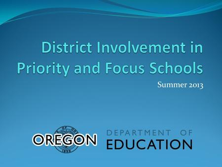 Summer 2013. Non-effective School Districts district staff issue a plethora of uncoordinated and often contradictory directives while presiding over resource.