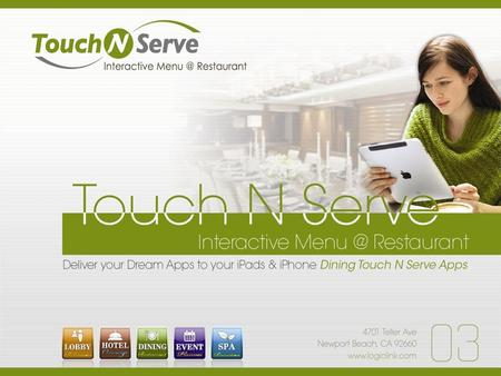 Touch N Serve POS User Friendly POS Interface Head Office 4 Maintenance Reporting Ordering Kitchen Printing Cashier Backup&Recovery CRM Reservation.