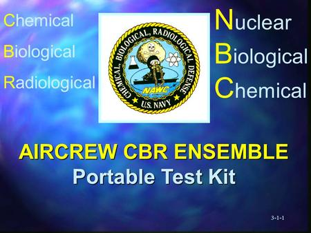 3-1-1 N uclear B iological C hemical AIRCREW CBR ENSEMBLE Portable Test Kit Chemical Biological Radiological.