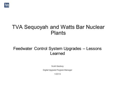 TVA Sequoyah and Watts Bar Nuclear Plants