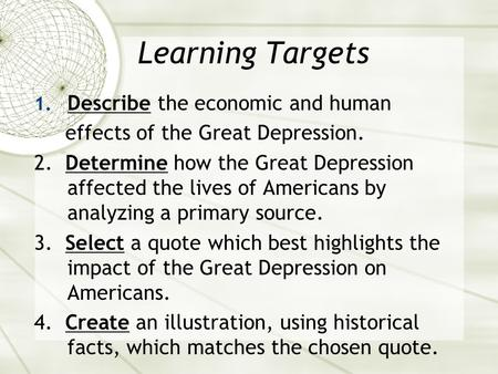 Cause and effect of the great depression essay