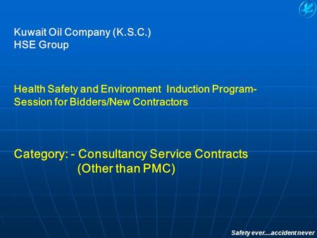 Category: - Consultancy Service Contracts (Other than PMC)