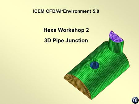ICEM CFD/AI*Environment 5.0 Hexa Workshop 2 3D Pipe Junction