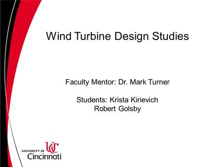 Wind Turbine Design Studies