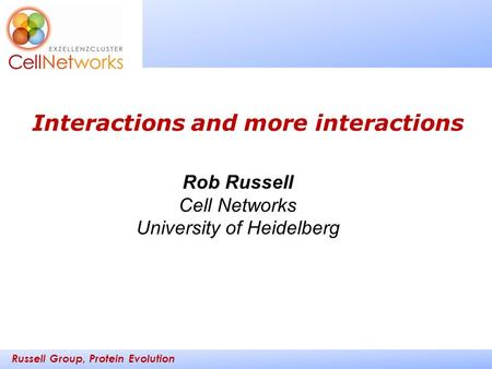 Interactions and more interactions