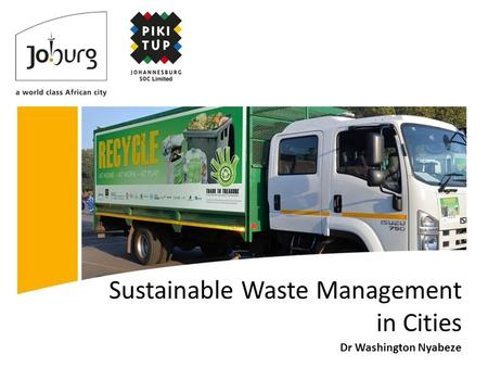 Sustainable Waste Management in Cities