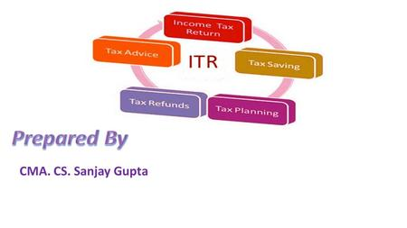 CMA. CS. Sanjay Gupta. How to file Income Tax Return? Which ITR will be applicable?