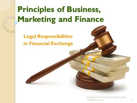 Principles of Business, Marketing and Finance