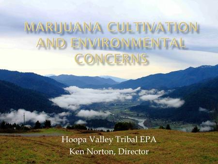 Hoopa Valley Tribal EPA Ken Norton, Director.  We the undersigned members of the Hoopa Valley Tribe, and citizens of the Hoopa Nation, herby petition.