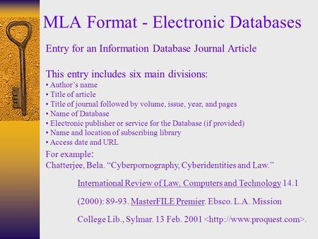 How to Cite a Journal in MLA Format