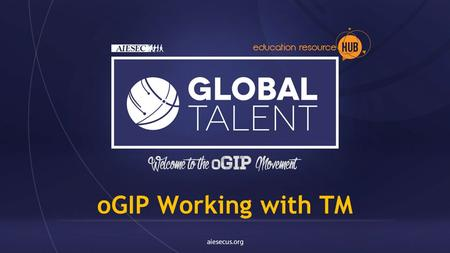 OGIP Working with TM. Why oGIP ? Financial Sustainability LC Growth Experience & Know How Experience & Know How.