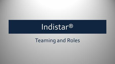 Indistar® Teaming and Roles. School Leadership Team Coach a.k.a. School Consultant, District Liaison, etc. LEA SEA.