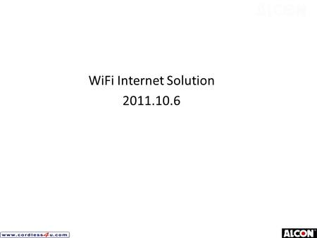 WiFi Internet Solution 2011.10.6. Project Description and Requirement 1.Total Area 800 x 800 meter 2.Include 4 storey Apartment Building x 29 ( each building.