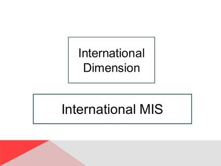 International MIS International Dimension. ID-2 Study Questions Q1: How does the global economy impact organizations and processes? Q2: What are the characteristics.