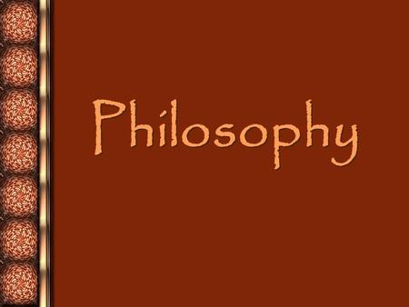 Philosophy Philosophy. Greeks placed importance on intellect. Intellect: the ability to learn and reason.
