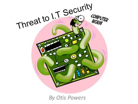 Threat to I.T Security By Otis Powers. Hacking Hacking is a big threat to society because it could expose secrets of the I.T industry that perhaps should.